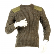 Niffi - York Crew - Schurwoll-Pullover mit Patches - Derby Tweed M