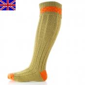 Jagd-Kniestumpf - Byron - Shooting-Socks - Grün/Orange