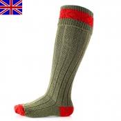 Jagd-Kniestumpf - Byron - Shooting-Socks - Grün/Rot