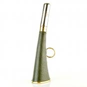 Jagd - Signalhorn - Messing / Leder 21cm