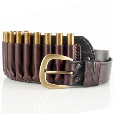Patronengürtel - Leder - 15 x Kugel