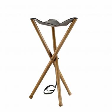 Sitzstuhl Dreibein - Leder - 60cm