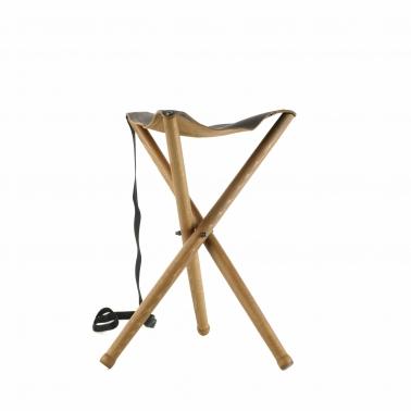 Sitzstuhl Dreibein - Leder - 50cm
