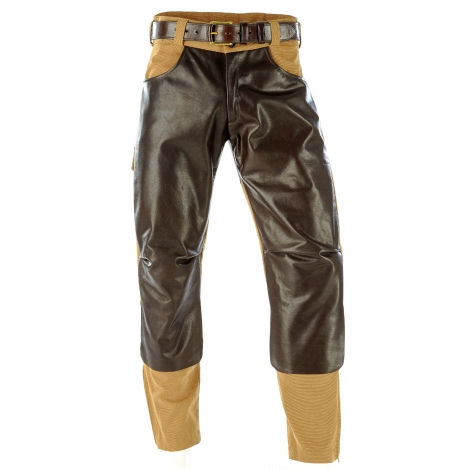 Safari - Stiefelhose - Lederbesatz - Hard Wearing Canvas - Paul & Kloosterhuis