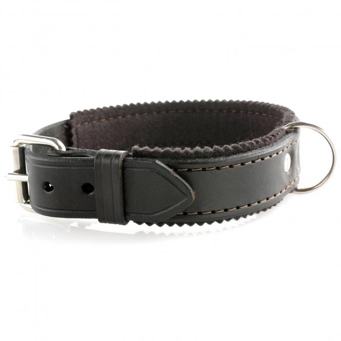 Hundehalsband - Leder/Filz 60cm