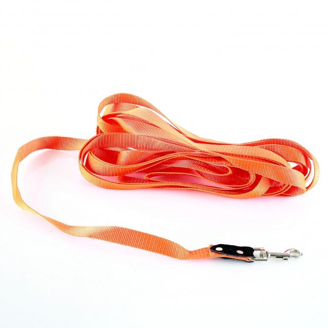 Schleppleine - Feldleine - Nylon - Länge 10 m - 25mm - Orange