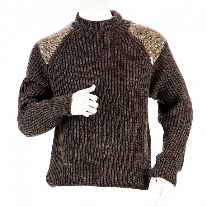 Niffi - Gamekeeper Brown - Heavy Weight - Schurwoll-Pullover - Harris Tweed S