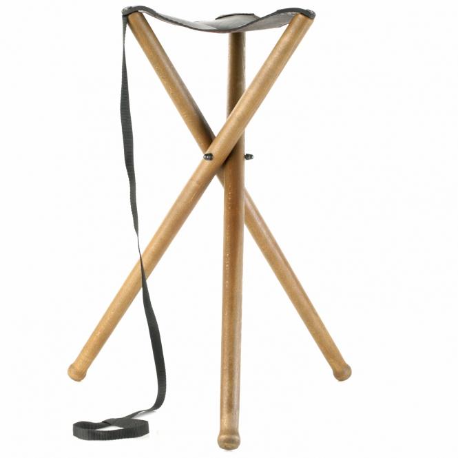 Sitzstuhl Dreibein - Leder - 75cm