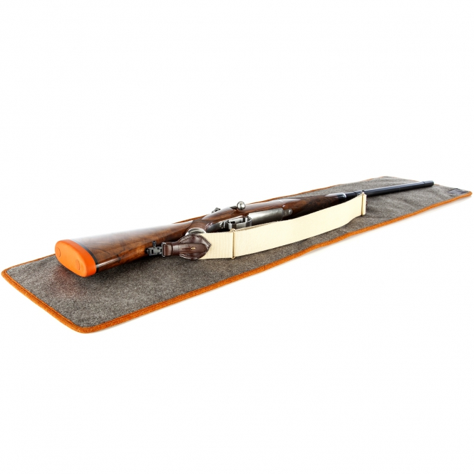 Paul & Kloosterhuis - Loden-Waffen-Unterlage - Gun Cleaning Mat - Grau/Orange