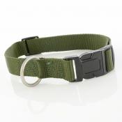 Hundehalsband - Nylon - grün