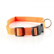 Hundehalsband - Nylon - Orange 40-60cm