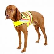 Signal-Hunde-Weste - Doppel-Klett - Gelb