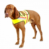 Signal-Hunde-Weste - Doppel-Klett - Gelb Größe 2