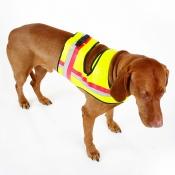 Signal-Hunde-Weste - GPS - Schließe - Gelb Größe 2