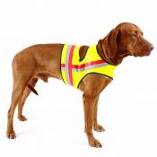 Signal-Hunde-Weste - GPS-Klett - Gelb