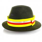 Signal-Hutband - Gelb - Reflektorstreifen