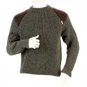 Niffi - Gamekeeper Green - Heavy Weight - Schurwoll-Pullover - Harris Tweed