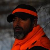 Drückjagd-Schal mit Signal-Hutband - Signal-Orange