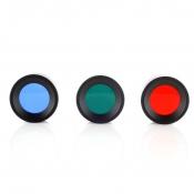 Jagd-Taschen-Lampen-Farbfilter-Set - Rot / Grün / Blau