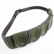 Patronengürtel Kugel - Loden/Leder