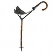 Sitzstock - Leder - klappbar - 60cm