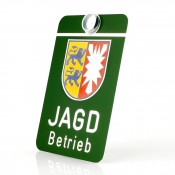 Auto-Jagdschild - Jagdbetrieb - Bundesland: Schleswig-Holstein