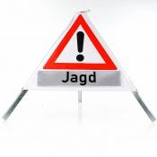 Signal-Jagdschild - Dreibein-Falt-Pylon