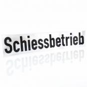 Wechsel-Klett-Schild - Schiessbetrieb