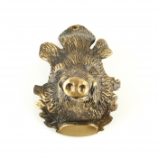 Keilerwaffen-Abdeckung - Keilerhaupt - Bronze
