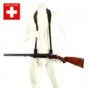 Drückjagd-Gewehrriemen - Leder - Swiss Made