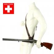Drückjagd-Gewehrhalter - Leder - Swiss Made