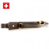 Knebel - Gewehrriemen - Leder - 2 x Schrot - Swiss Made