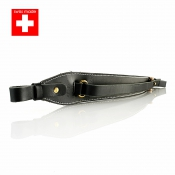Knebel - Gewehrriemen - Leder - Swiss Made - Black Edition