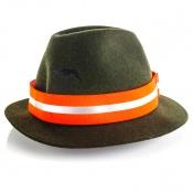 Signal-Hutband - Orange - Reflektorstreifen