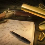 Jagdtagebuch aus Leder der Firma Steinmandl