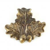 Keilerwaffen-Abdeckung - Eichenlaub - Bronze