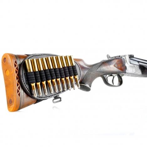 Schaft - Patronenetui - Leder - 10 x Kugel