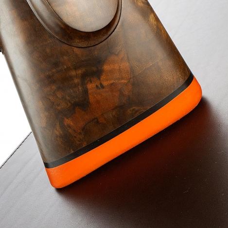 S.W. Silver - Recoil-Pad - Best London Orange - No. 3 / Safari - Schaftkappe