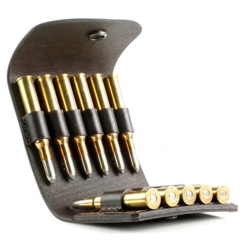 Patronenetui Leder - 11 x Kugel