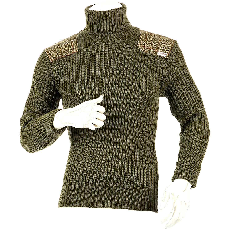 niffi ghillie schurwoll pullover mit harris tweed. Black Bedroom Furniture Sets. Home Design Ideas