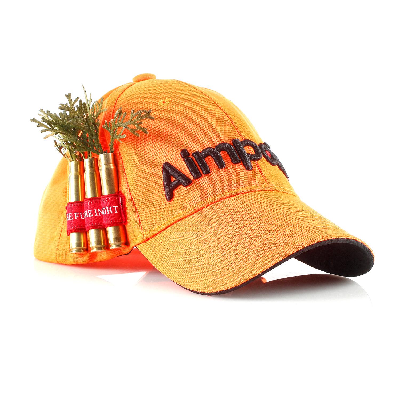 Cabelas Trucker Hat: Blaze Orange Hat